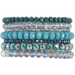 Jones New York Blue Multi Rows Glass Bracelet Set