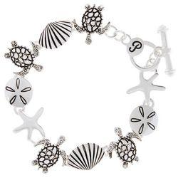 PIPER MADISON Turtle & Sea Life Linked Bracelet