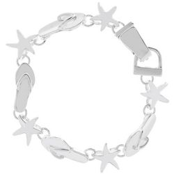 PIPER MADISON Flip Flop & Starfish Linked Bracelet