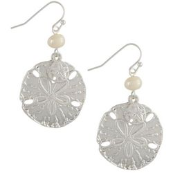 PIPER MADISON Faux Pearl & Sand Dollar Earrings