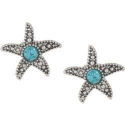 PIPER MADISON Aqua Blue Starfish Stud Earrings