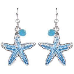 PIPER MADISON Aqua Blue Starfish Dangle Earrings