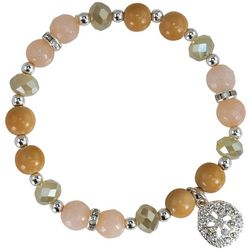PIPER MADISON Sand Dollar Charm Beaded Stretch Bracelet