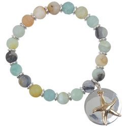PIPER MADISON Two Tone Starfish Charm Beaded Bracelet