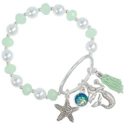 PIPER MADISON Mint Green Mermaid Tassel Charm Bracelet