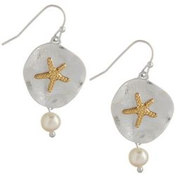 PIPER MADISON Starfish & Faux Pearl Earrings