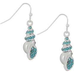 PIPER MADISON Aqua Blue Conch Shell Earrings