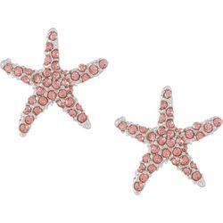 PIPER MADISON Pink Rhinestones Starfish Earrings