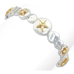 PIPER MADISON Two Tone Starfish Disc Bracelet