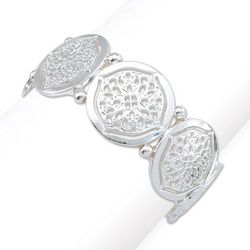 PIPER MADISON Silver Tone Filigree Disc Design Bracelet