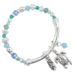 PIPER MADISON Silver Tone Sea Turtle Charm Bracelet