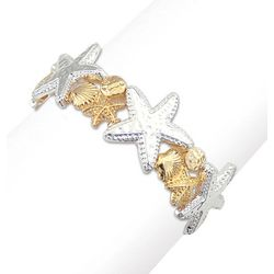 PIPER MADISON Two Tone Seashell & Starfish Bracelet