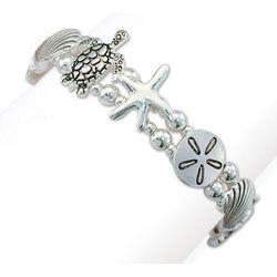PIPER MADISON Seaside Silver Tone Linked Bracelet