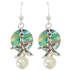 PIPER MADISON Starfish Abalone Shell Dangle Earrings