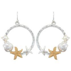 PIPER MADISON Two Tone Starfish Dangle Earrings