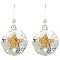 PIPER MADISON Two Tone Sand Dollar & Starfish Earrings