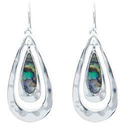 PIPER MADISON Abalone Shell Teardrop Dangle Earrings