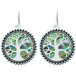 PIPER MADISON Tree Of Life Abalone Dangle Earrings