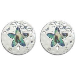 PIPER MADISON Abalone Shell Sand Dollar Clip On Earrings