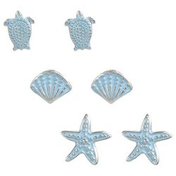 PIPER MADISON 3-pc. Coastal Blue Stud Earring Set