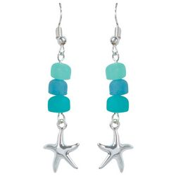 PIPER MADISON Sea Glass Beads Starfish Earrings