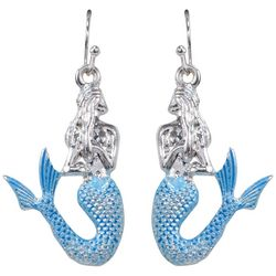 PIPER MADISON Blue Tail Mermaid Dangle Earrings
