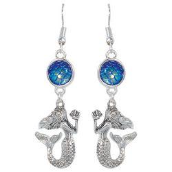 PIPER MADISON Blue Scales Mermaid Drop Earrings