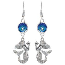 PIPER MADISON Blue Scales Mermaid Drop Earrings