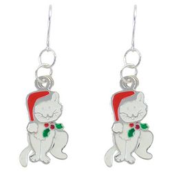 PIPER MADISON Holiday Santa Hat Cat Earrings