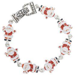 PIPER MADISON Holiday Santa Enamel Link Bracelet