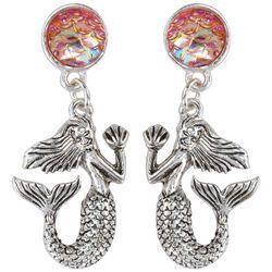 PIPER MADISON Mermaid Pink Scales Drop Earrings