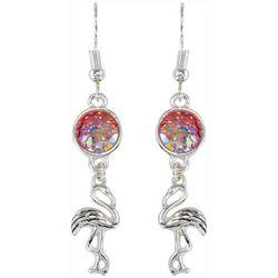 PIPER MADISON Pink Discs Flamingo Earrings