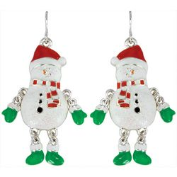 PIPER MADISON Holiday Snowman Dangle Earrings