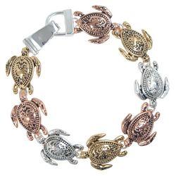PIPER MADISON Tri Tone Sea Turtle Linked Bracelet