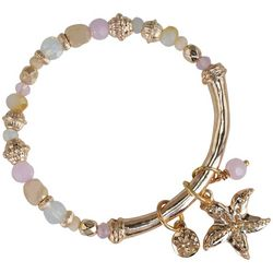 PIPER MADISON Rose Gold Tone Beaded Starfish Charm Bracelet