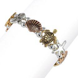PIPER MADISON Tri Tone Sea Turtle Coastal Bracelet