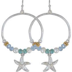 PIPER MADISON Bead Hoop Starfish Drop Earrings