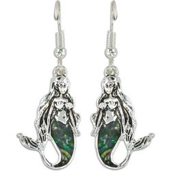 PIPER MADISON Abalone Shell Mermaid Dangle Earrings