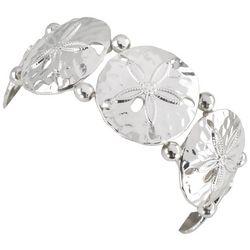 PIPER MADISON Silver Tone Linked Sand Dollar Bracelet