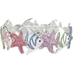 PIPER MADISON Starfish & Fish Stretch Bracelet