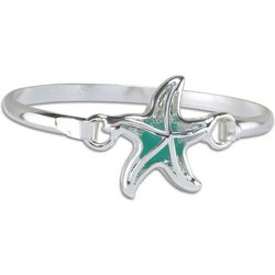 PIPER MADISON Silver Tone Sea Glass Starfish Bracelet