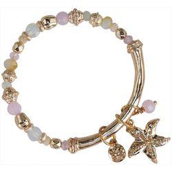 PIPER MADISON Pink Bead & Starfish Charm Bracelet