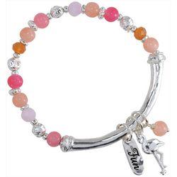 PIPER MADISON Pink Bead & Flamingo Charm Bracelet