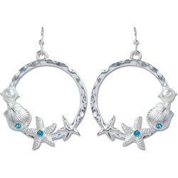 PIPER MADISON Coastal Starfish & Faux Pearl Earrings