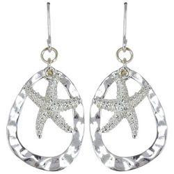 PIPER MADISON Open Teardrop Starfish Earrings