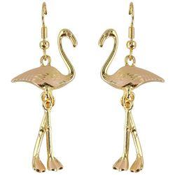 PIPER MADISON Dancing Pink Flamingo Earrings