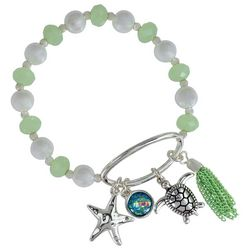 PIPER MADISON Faux Pearl & Bead Coastal Charm Bracelet