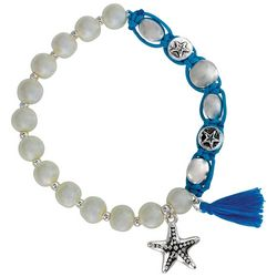 PIPER MADISON Coastal Faux Pearl & Starfish Bracelet