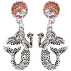 PIPER MADISON Mermaid Pink Scales Post Top Earrings