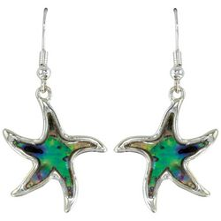 PIPER MADISON Abalone Shell Silver Tone Starfish Earrings
